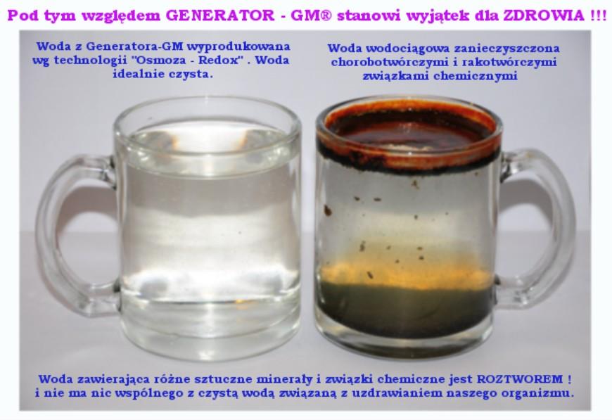 Elektroliza wody ppm zero na foto na www